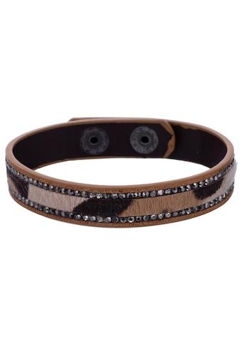 J.Jayz Armband »Leo Look, braun-grau-schwarz«, mit Strasssteinen kaufen