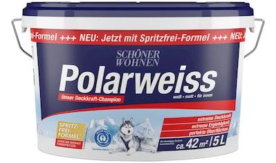 SCHÖNER WOHNEN-Kollektion Wandfarbe »Polarweiss«, 5 l, starke Deckkraft kaufen