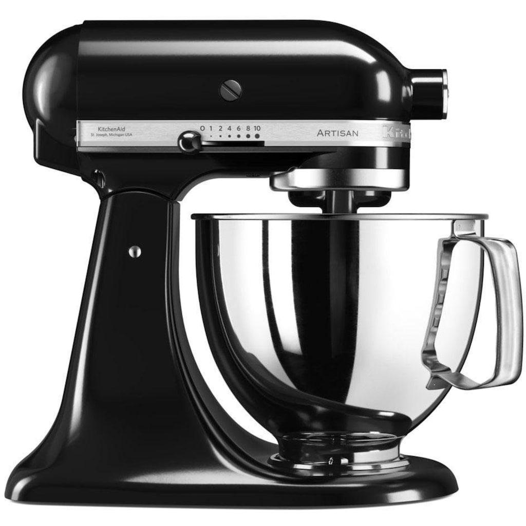 KitchenAid Küchenmaschine »Artisan 5KSM125EOB Onyx Schwarz«, 300 W, 4,8 l Schüssel