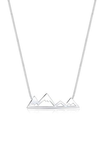 Elli Kette mit Anhänger »Berge Mountain Anhänger Reise Cut-Out 925 Silber« kaufen