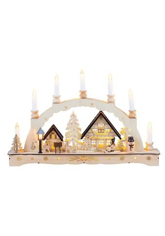 HGD Holz - Glas - Design Lichterbogen Weihnachtsromantik mit Schraubgewindekerzen kaufen