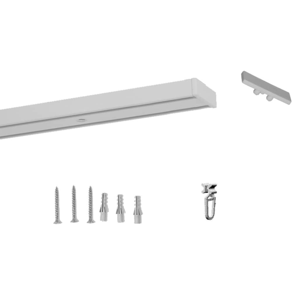 indeko Schienensystem »Objektschiene«, 2 läufig-läufig, Wunschmaßlänge