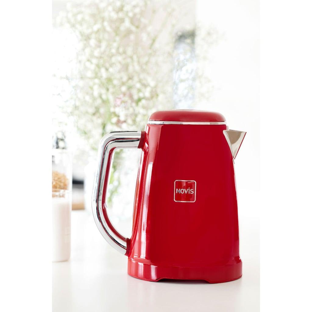 NOVIS Wasserkocher »KTC1 rot«, 1,6 l, 2400 W, mit elektronischer Temperatureinstellung, Metallgehäuse