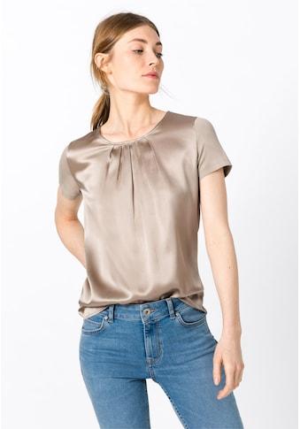HALLHUBER Blusenshirt »Seidenshirt mit Faltendetails« kaufen
