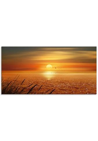 Artland Glasbild »Sonnenuntergang über dem Meer«, Sonnenaufgang & -untergang, (1 St.) kaufen