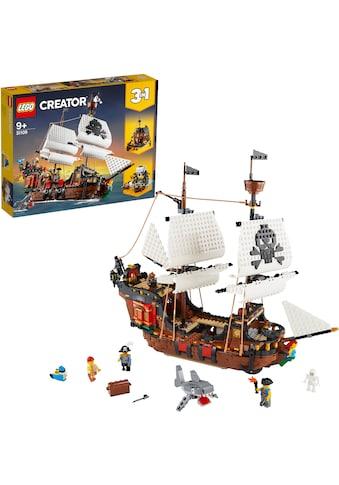 LEGO® Konstruktionsspielsteine »Piratenschiff (31109), LEGO® Creator«, (1264 St.),... kaufen