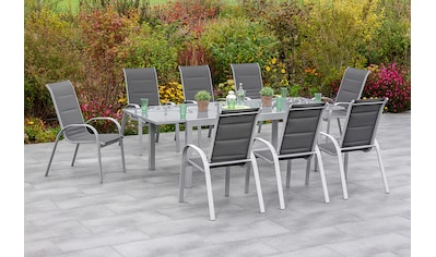 MERXX Gartenmöbelset »Amalfi di lusso«, (7 tlg.), 6 Sessel mit Tisch kaufen