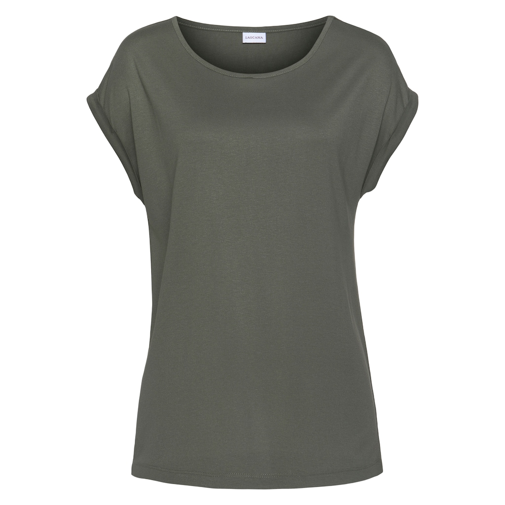 LASCANA Kurzarmshirt, im Basic-Style