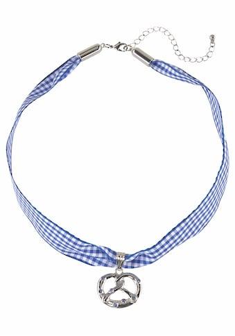 J.Jayz Choker »kariert, mit Brezelanhänger blau/weiß, Wiesn, Trachten«, (1 tlg.), mit... kaufen