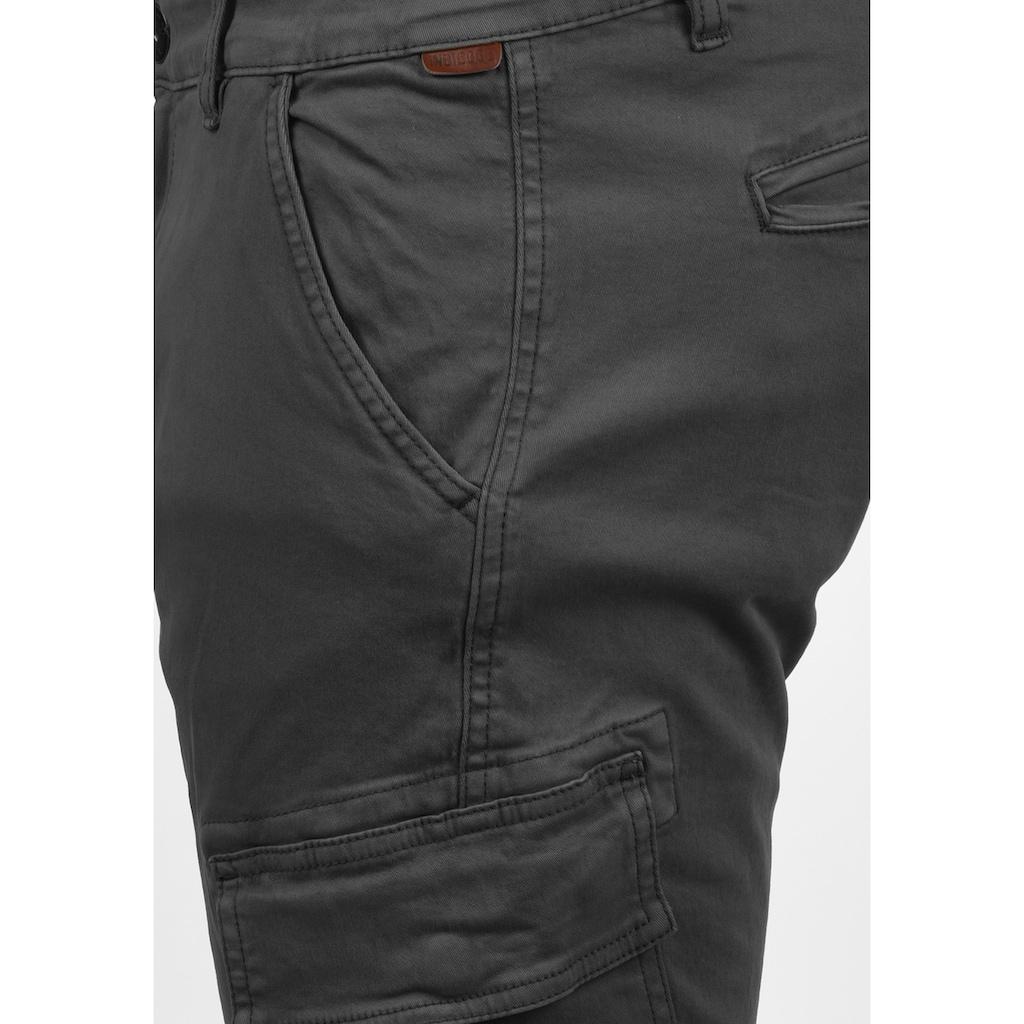 Indicode Cargohose »Bromfield«, lange Hose mit elastischen Beinbündchen