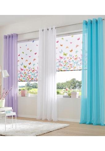 Home affaire Seitenzugrollo »Butterfly«, Lichtschutz, ohne Bohren, freihängend, im Fixmaß kaufen