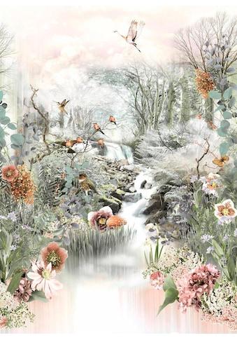Komar Fototapete »Fable«, bedruckt-floral-geblümt, ausgezeichnet lichtbeständig kaufen