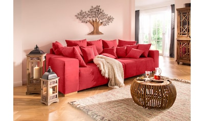 Home affaire Big-Sofa »Neapel«, mit vielen losen Kissen, in 2 Bezugsqualitäten kaufen
