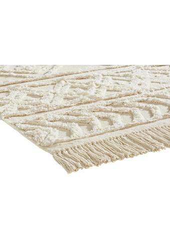 Teppich Sharon aus Baumwolle mit Struktur kaufen