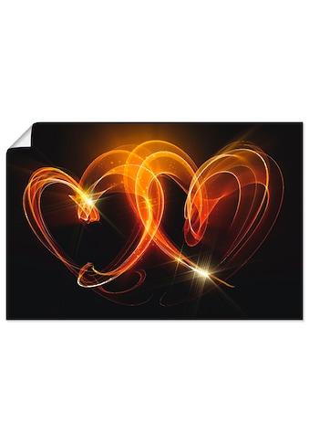 Artland Wandbild »Verbundenheit«, Herzen, (1 St.), in vielen Größen & Produktarten -... kaufen