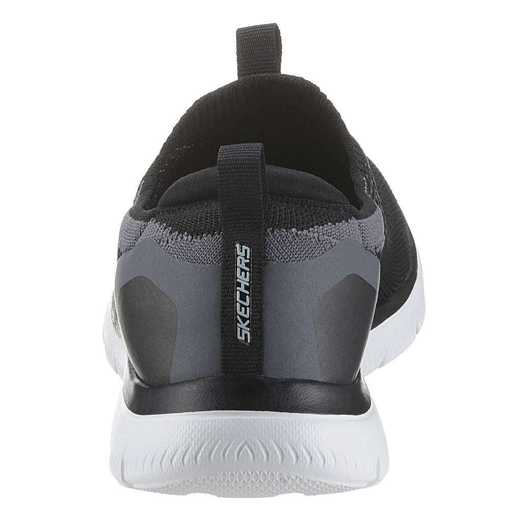 Skechers Slip-On Sneaker »SUMMITS-DAILY FLOURISH«, mit gepolstertem Fersenpart