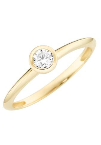 Firetti Solitärring »Verlobungsring, Glänzend, massiv, Gelbgold«, mit Zirkonia kaufen