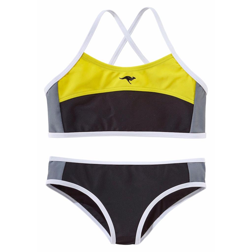 KangaROOS Bustier-Bikini, im sportlichen Look
