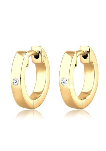 Diamore Paar Creolen »Creole Diamant (0.03 ct) Geschenkidee Silber« kaufen