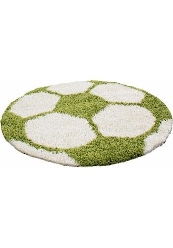 Ayyildiz Kinderteppich »Fun 6001«, rund, 30 mm Höhe, Fußball Design kaufen