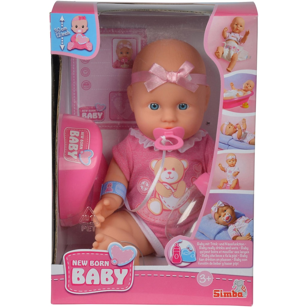 SIMBA Babypuppe »New Born Baby«, (1 tlg.)
