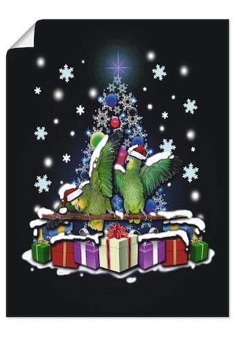 Artland Wandbild »Papageien mit Weihnachten« kaufen