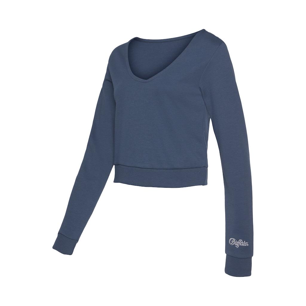 Buffalo Kapuzensweatshirt, kurze Form
