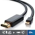 CSL Premium Full HD Mini DisplayPort auf HDMI Kabel »HDMI Stecker zu Mini DisplayPort Stecker«