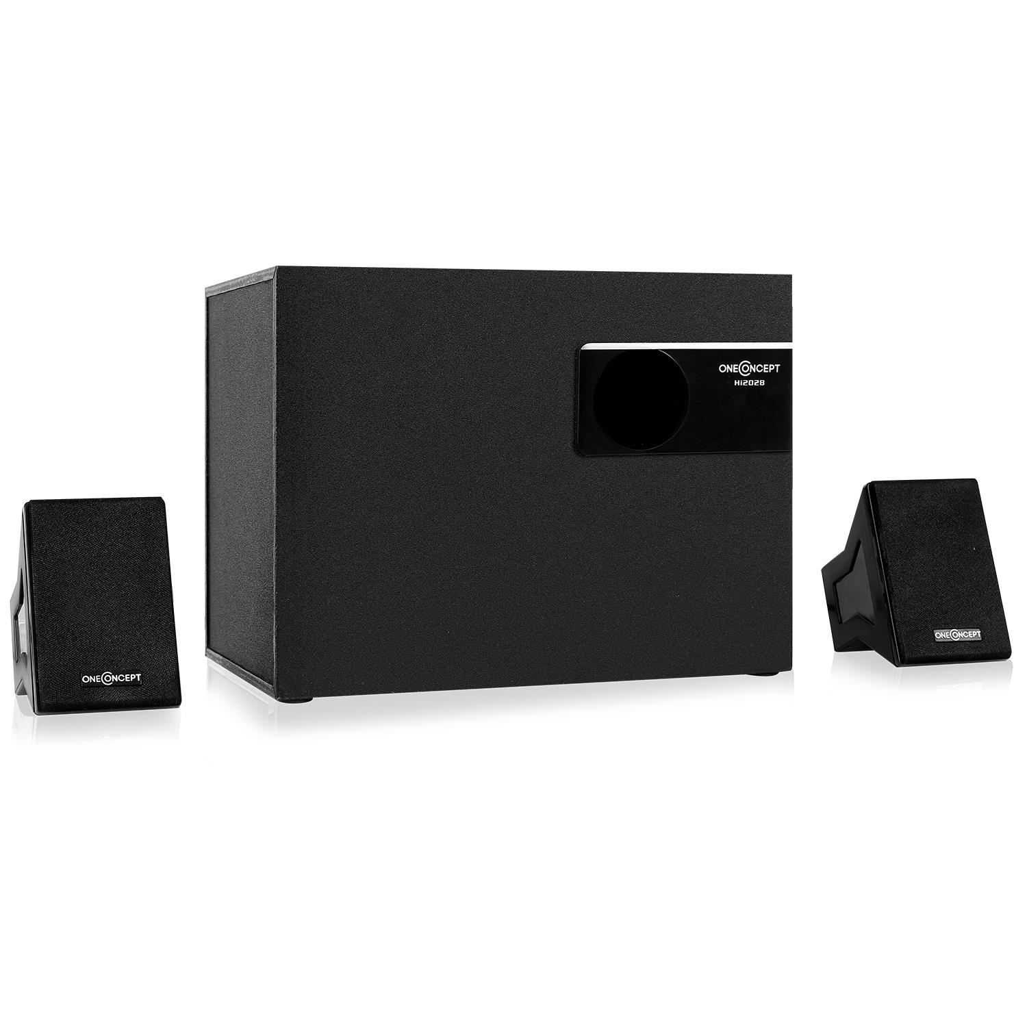 oneconcept aktives 2 1 lautsprechersystem subwoofer pc. Black Bedroom Furniture Sets. Home Design Ideas