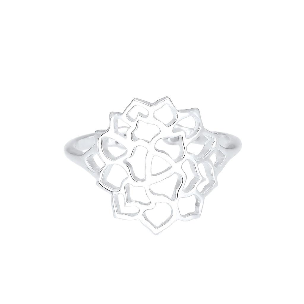 Elli Fingerring »Lotusblume Ornament 925 Sterling Silber«