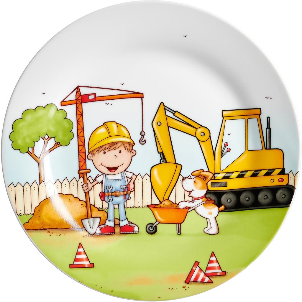Ritzenhoff & Breker Kindergeschirr-Set »Bauarbeiter«, (Set, 3 tlg.)