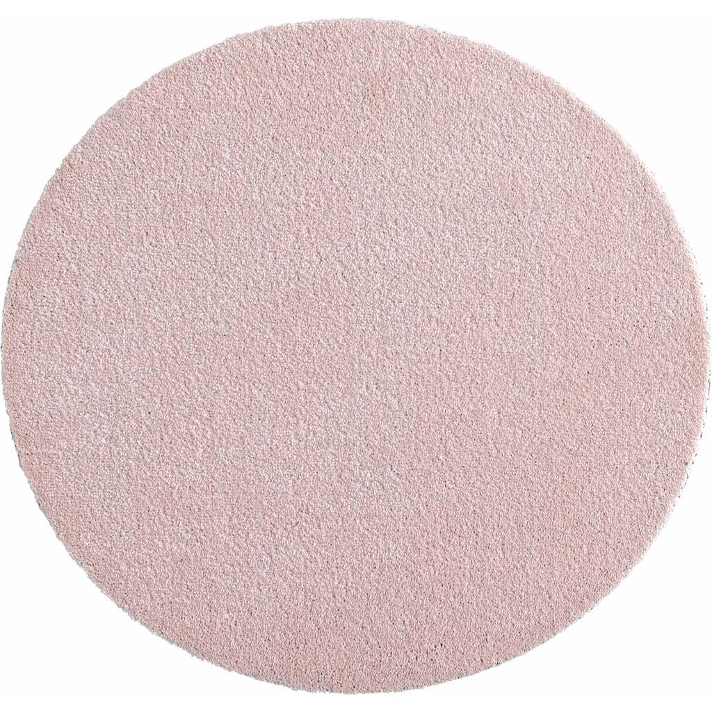 HANSE Home Teppich »Deko Soft«, rund, 7 mm Höhe, waschbar, rutschhemmend, Wohnzimmer
