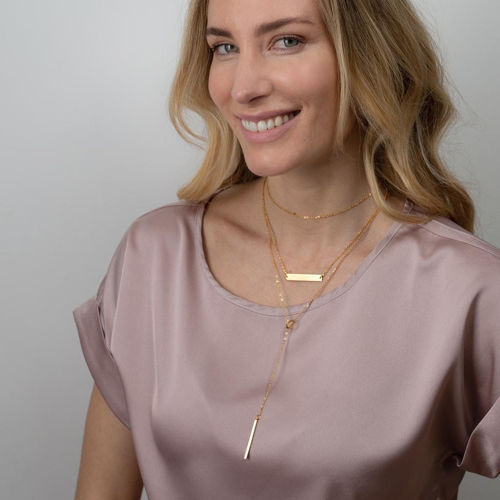 AILORIA Kette mit Anhänger »ARIELLE Halskette Gold«, Hochglanz-Finish