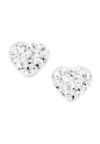 Firetti Paar Ohrstecker »Herz«, mit Kristallen kaufen