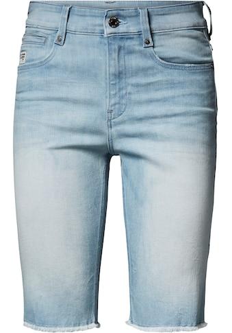 G-Star RAW Jeansbermudas »4311 Noxer High Slim Short«, mit leicht ausgefranster Kante... kaufen