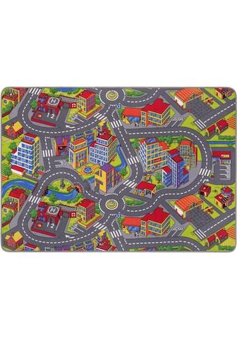 Andiamo Kinderteppich »Straße«, rechteckig, 5 mm Höhe, Straßen-Spielteppich,... kaufen