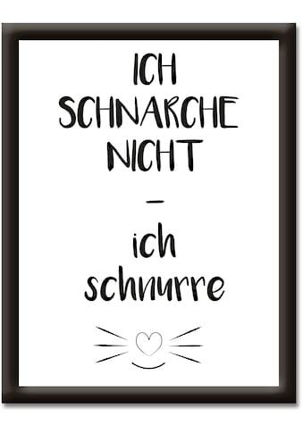 Artland Wandbild »Ich schnarche nicht - ich schnurre«, Sprüche & Texte, (1 St.) kaufen