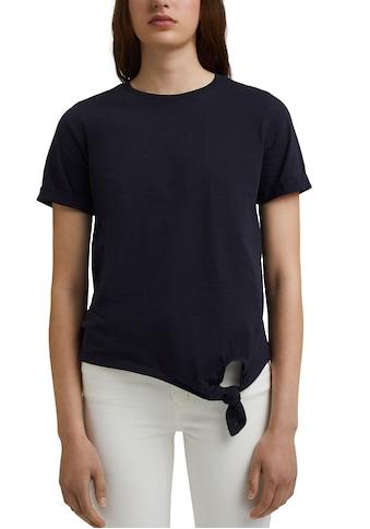 edc by Esprit T-Shirt, mit seitlichem Knotendetail kaufen