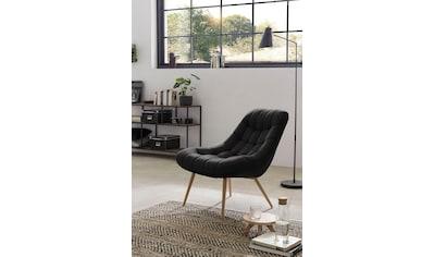 SalesFever Relaxsessel, mit XXL-Steppung, mit schwarzen oder naturfarbenen Beinen kaufen