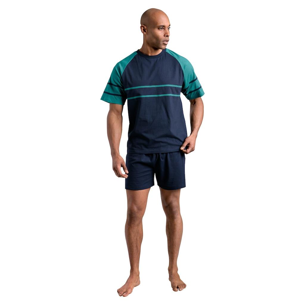 le jogger® Shorty, (2 Stück), mit aufgesetzten Streifen