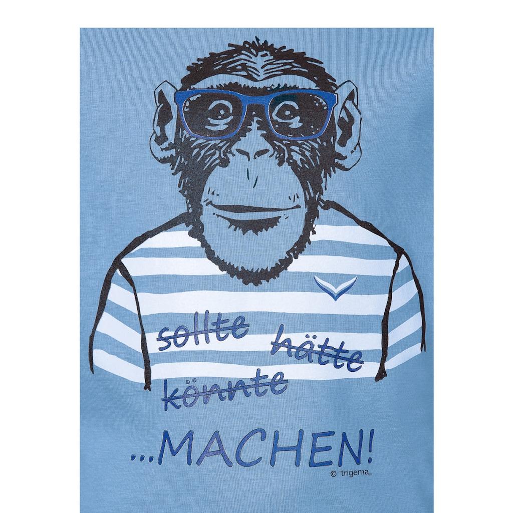 Trigema T-Shirt, mit großem Affen-Druckmotiv