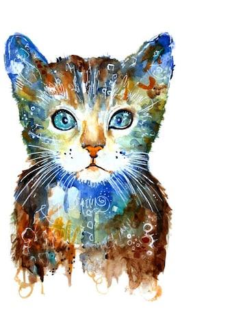 Wall-Art Wandtattoo »Lebensfreude - Kleine Katze« kaufen