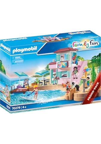 "Playmobil® Konstruktions - Spielset ""Eisdiele am Hafen (70279), Family Fun"", Kunststoff kaufen"