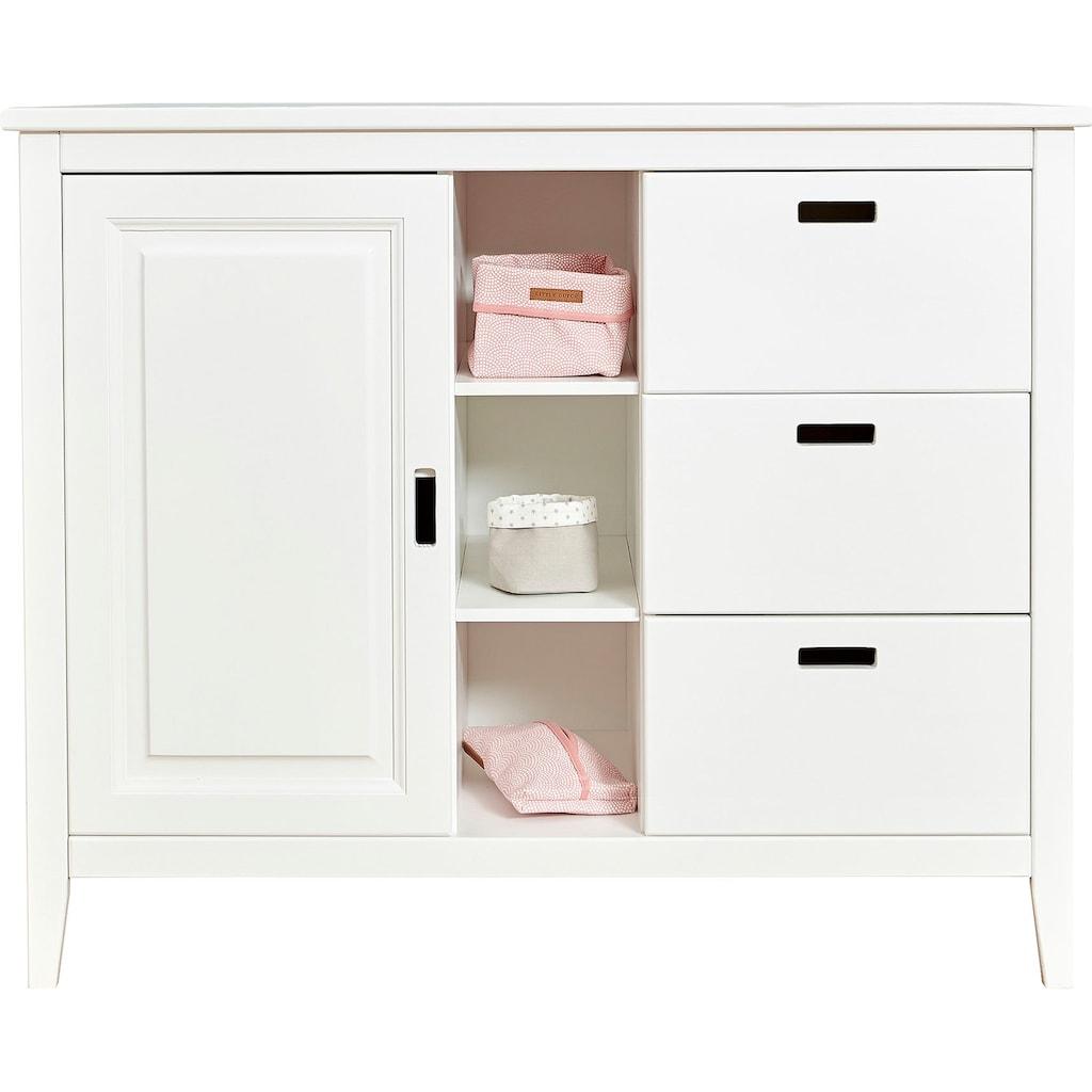 Ticaa Babyzimmer-Komplettset »Morgenroth«, (Set, 4 St.), Bett + Wickelkommode + Schrank + Unterstellregal