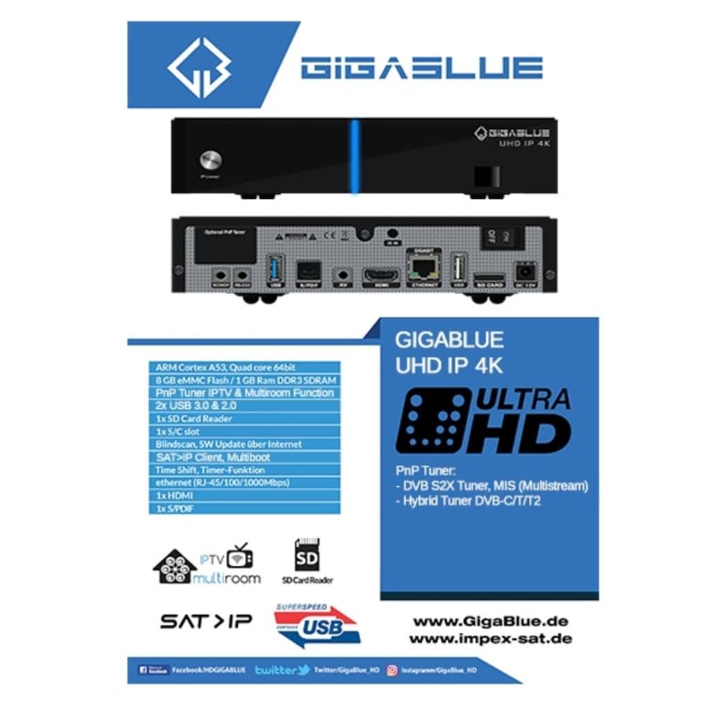 Gigablue SAT-Receiver »UHD IP 4K«, (WLAN-Bluetooth)