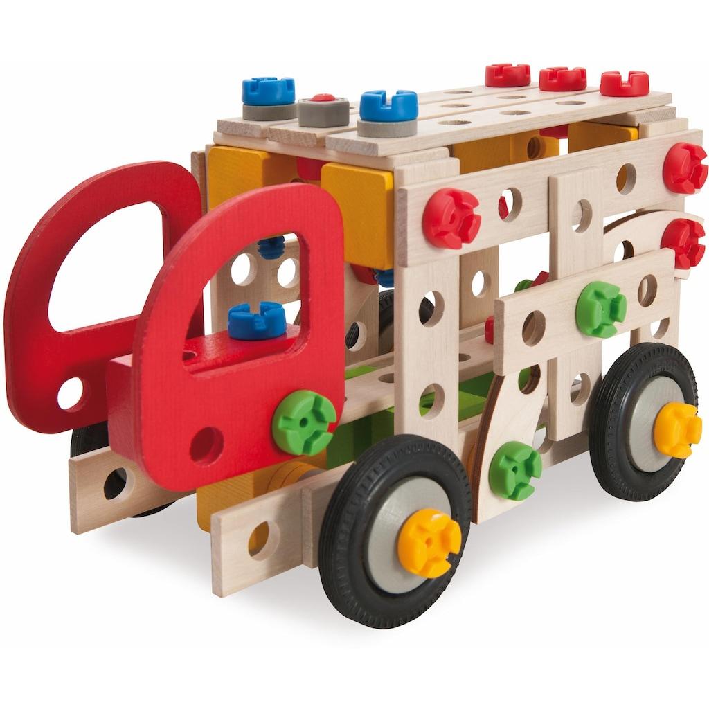 Eichhorn Konstruktionsspielsteine »Constructor Feuerwehr, 155tlg.«, (155 St.), Made in Germany, FSC®-Holz aus gewissenhaft bewirtschafteten Wäldern