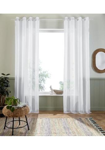 my home Gardine »Freiburg«, Vorhang, Fertiggardine, halbtransparent kaufen