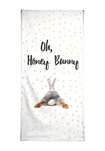 Juniqe Handtuch »Honey Bunny«, Weiche Frottee-Veloursqualität kaufen