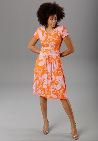 Aniston SELECTED Sommerkleid, mit Paisley-Druck in modischer Knallfarbe kaufen