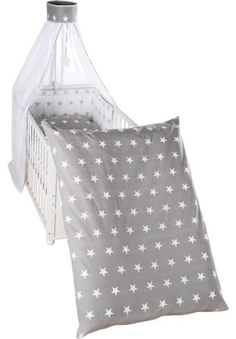 roba® Himmelbettgarnitur »Little Stars, wendbar«, 4-tlg., mit Bettwäsche, Nestchen und... kaufen